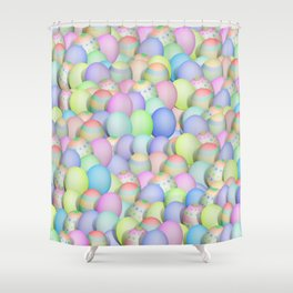 Pastel Colored Easter Eggs Shower Curtain