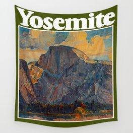 Vintage Yosemite National Park Wall Tapestry
