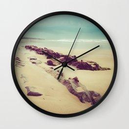 Blue Ocean Path Wall Clock