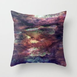 Space Algae Throw Pillow