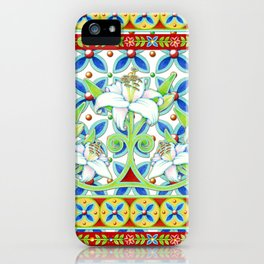 Extravagant Elizabethan Folkloric Lily iPhone Case