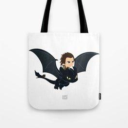 Boy and his dragon Tote Bag
