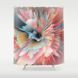 Digital Poppy Shower Curtain