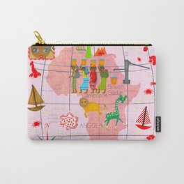Africa Map Carry-All Pouch
