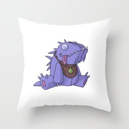 Cute Plush Dino Throw Pillow