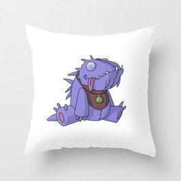 Cute Plush Dino Throw Pillow