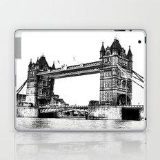 Tower bridge in White & Black! Laptop & iPad Skin