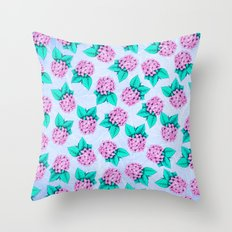 Floral Devotion Pink Flowers Design Throw Pillow