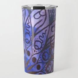 blue, green, purple Travel Mug