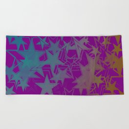 Vector dark purple metallic background in blue stars. For registration of paper or banners. Beach Towel