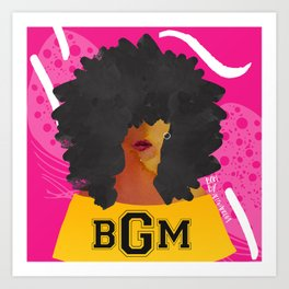 SCHOOL OF BLACK GIRL MAGIC Art Print