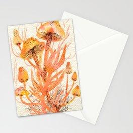 Orange Mushroom Stationery Cards
