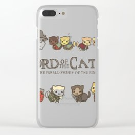 The Furrlowship of the Ring Clear iPhone Case