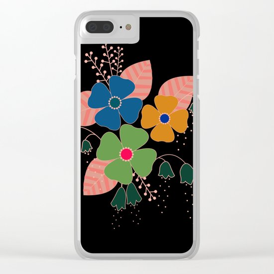 flower..9 Clear iPhone Case
