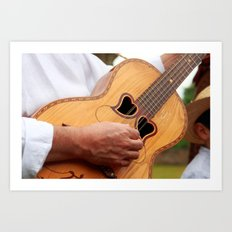 Typical Azores guitar Art Print