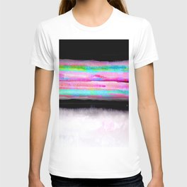 Fading view abstract landscape painting T-shirt