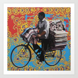 Fabric Seller Art Print