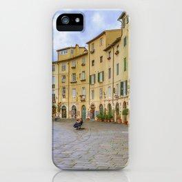 Piazza Anfiteatro, Lucca City, Italy iPhone Case