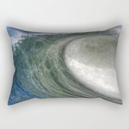 Hollow Breaking Ocean Wave Rectangular Pillow