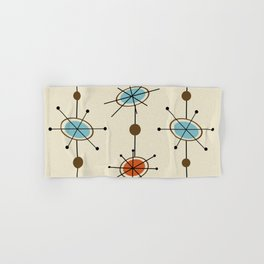 Atomic Era Satellites Hand & Bath Towel