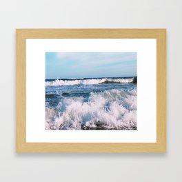 East End Waves Framed Art Print