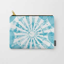 Pop art blue illustration on the background of hearts Carry-All Pouch