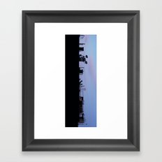 Silhouette City Framed Art Print
