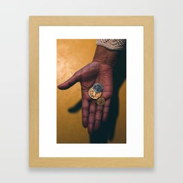 Coins Framed Art Print