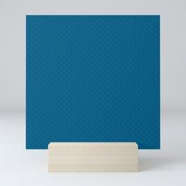 Sea blue textured. Mini Art Print