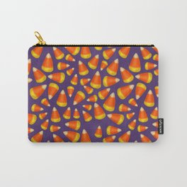 Purple Candycorn pattern Carry-All Pouch