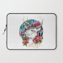 Christmas Reindeer / Deer Painting Drawing Laptop Sleeve