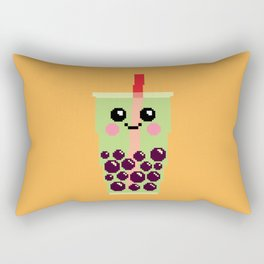 Happy Pixel Bubble Tea Rectangular Pillow