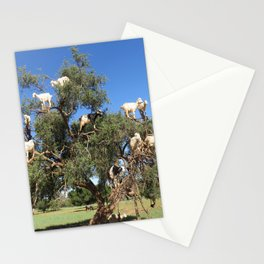 Goats in a tree Stationery Cards