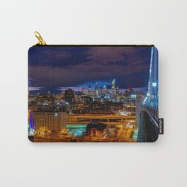 Philly Skyline from Ben Franklin Bridge Carry-All Pouch