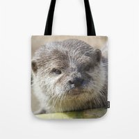 otter Tote Bags featuring Otter by PICSL8
