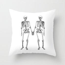 Two skeletons Throw Pillow