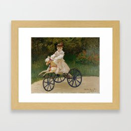 "Claude Monet ""Jean Monet (1867–1913) on His Hobby Horse"" Framed Art Print"