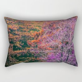 autumn tree in the forest with purple and brown leaf Rectangular Pillow