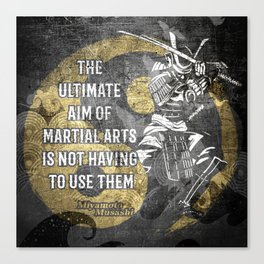 Miyamoto Musashi Samurai Martial arts Wisdom Canvas Print