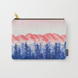 Navy and Coral Mountains Carry-All Pouch