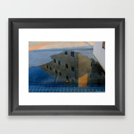 Puddle Reflection  Framed Art Print
