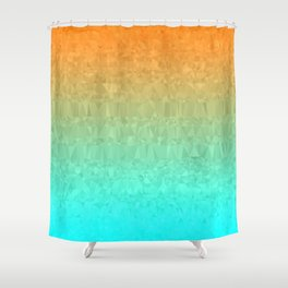 Blue and Orange Ombre - Flipped Shower Curtain