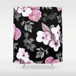 Night bloom - pink blush Shower Curtain