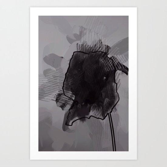 leaf four Art Print