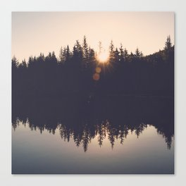Wooded Lake Reflection  - Nature Photography Canvas Print
