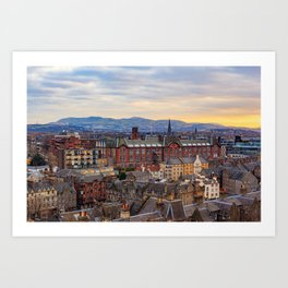 Edinburgh City View Art Print