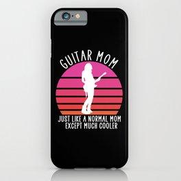 Guitar mom iPhone Case