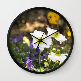 Papaver in the Garden  //  The Botanical Series Wall Clock