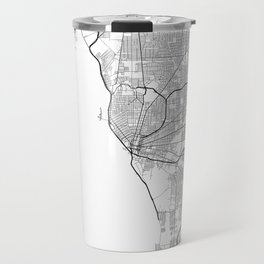 Minimal City Maps - Map Of Buffalo, New York, United States Travel Mug
