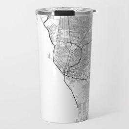 Minimal City Maps - Map Of Buffalo, New York, United States Travel Mug